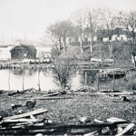 Parti fra Thurøbund.(ca. 1890) N.P. Petersens værftsgrund, hvor ØEN samt ABILDGAARD ses i baggrunden.