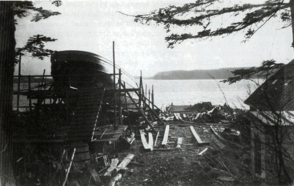 Skibet Ruth på bedding.